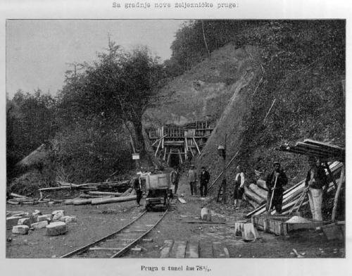 Detalj sa gradnje pruge 1905 godine